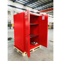 Red Flammable Combustible Storage Cabinets Two Vents Single Door 45 gallon Manufactures