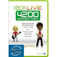 4200 Microsoft Points - ms Xbox 360 Live Punkte - Card Manufactures