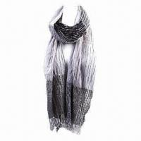 Yarn Dyed Cotton Scarf in Fashionable Design, Various Colors are Available, Measures 176x42+6cm Manufactures