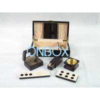 China Painted Wooden Boxes Packaging For Aromer Burner Set , Women Perfume Gift Sets on sale