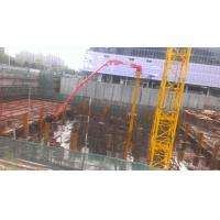 China 380V / 50HZ Hydraulic Concrete Placing Boom Step Speed Or Stepless Speed on sale