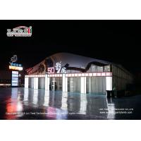 China 20x30m 6m Side Height Outdoor Event Tents With Thermo Roof Covers And Glass Panel Around For Cinema Room on sale