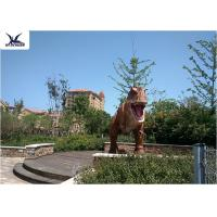 Outdoor Life Size Dinosaur Statues Interactive In Jurassic Park Fire Resistance Manufactures