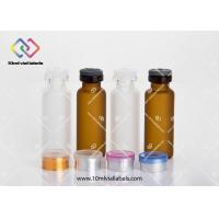 Customized Small Glass Vials 10ml 15ml 30ml 50ml For Organisms Preparations Manufactures