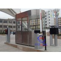 Waterproof Outdoor Indoor Stainless Steel Prefab Guard House , Noise Protection Park Toll Manufactures