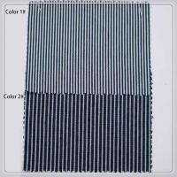 China Classica Pin Stripe Brushed Denim Upholstery Fabric 7oz W35009 For Shirting on sale