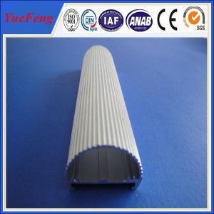 Half round aluminium profiles and hollow extruded aluminum design for led Manufactures