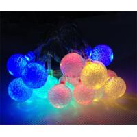 China christmas decoration battery operated crystal balls string light on sale