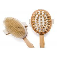 Handmade Boar Bristle Body Brush , Natural Shower Back Brush For Exfoliate Manufactures