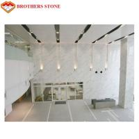 China White Marble Stone Tiles Slabs For High End Hotel Villa Projects on sale