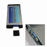 USB 3.0 Pcmcia Card with Plug-and-play and Hot-swappable Functions, Suitable for Notebook Computer Manufactures