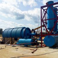 China 1/6 Environmental protection 10 Tons Waste Tyre Recycling Pyrolysis Plant for sale on sale