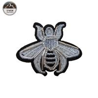 Quality Iron On Backing Beaded Applique Patches With Bee / Heart Lollipop Shape for sale