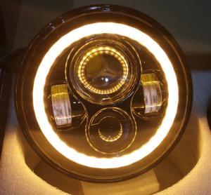 2 PC 70W 7inch 6000K 3700lm Round Angel Eyes CREE LED Headlights For Jeep Wrangler JK/TJ/LJ/CJ Manufactures