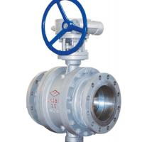 3 Way Cast Steel Ball Valve / 4 Inch Flanged Ball Valve PN 25 Worm Gear Manufactures