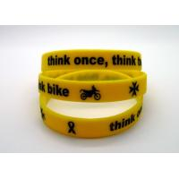 Quality Ink Filled Promotional Printed Silicone Wristbands With Debossed Logo , CE Specification for sale