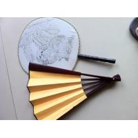 China Decorative Bamboo Rib Personalized Japanese Hand Fans Wedding Favors on sale