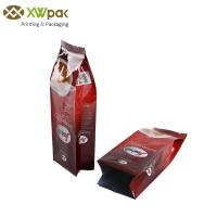 Custom Coffee Bean Tin Tie Bags Aluminum Foil Side Gusset Squad Seal With Valve Manufactures