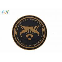 China Morton Home Rocket Powered PVC Rubber Patch Tactical Military Badge Hook Back Type on sale