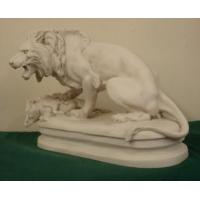 China white marble stone lion sculpture for decoration on sale