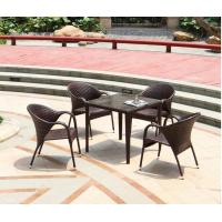 Hot Modern PE Rattan Chair Aluminium Outdoor Garden wicker table and chairs sets Manufactures