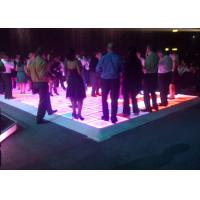 China Stage Interactive Led Dance Floor Panels , Interactive Led Screen on sale