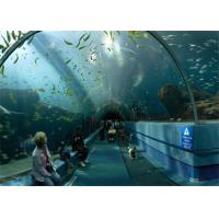 Customized Big perspex plexiglass acrylic tunnel for Underwater World Manufactures