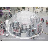 China 60m Outdoor Geodesic Dome Tents With Transparent PVC For F1 Event on sale