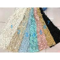 3D Flower Multi Colored Lace Fabric For Show / Embroidered Sequin Lace Fabric Manufactures