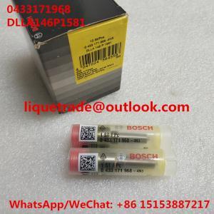 China BOSCH Injector nozzle DLLA146P1581, 0433171968 , DLLA 146 P 1581, 0 433 171 968 for 0445120067, 04290987, 20798683 on sale