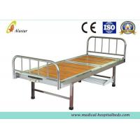 China Wooden Surface Steel Frame Medical Crank Hospital Bed With Plastic Bowls (ALS-M116) on sale