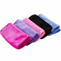 Soft microfiber deep cleaning makeup remover towel Manufactures