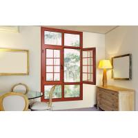 Wood Grain Double Glazing Casement Windows / Fixed Horizontal Casement Window Manufactures