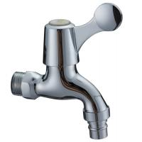 Contemporary Water Saving Single Cold Water Taps Chrome Plated Faucet , Wall Mounted Manufactures