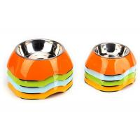 Two Size Multi Color Cool Pet Bowls , A5 Melamine With Anti Slip Pet Dishes Bowls Manufactures
