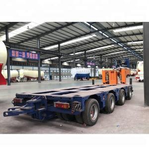 China 8 Axle Heavy Duty Modular Lowboy Semi Trailer 100 150 200 Ton Hydraulic Modular on sale