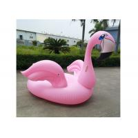 200cm Pink Inflatable Flamingo Floating Island Swim Pool Inflatable Raft Stock Float Bed Manufactures