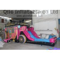 Disney princess combo , inflatable princess carriage combo,qile inflatable combo Manufactures