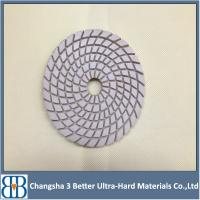 4 Inch Stone Granite Marble Wet Polishing Pads for Angle Grinder Manufactures