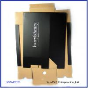China Custom Design Printed Corrugated Paper Shoe Box on sale