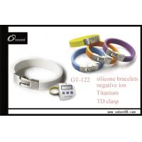 Fashion stainless steel power bracelet silicone bracelet with factory price