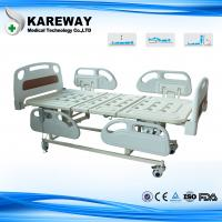 4 Inches Castors Hospital Patient Bed Three Functions With ABS Plastic Mattress Manufactures
