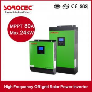 DC AC Solar System Inverter / Grid Tie Solar Inverter for Living House / Home Building Manufactures
