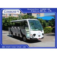 China 14 Seater Electric Shuttle Car Equipped With Effective Shock Absorb With Door on sale