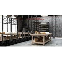 Bakery store interior design by wooden display counters and metal storage cabinet Manufactures