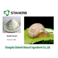 China Protein 60% Snail Extract Natural Cosmetic Raw Materials White Powder on sale