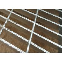 Standard Serrated Steel Grating , Expanded Metal Grating Raw Material Manufactures