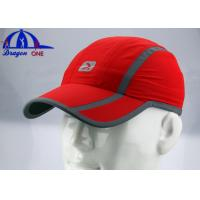 100% polyester woven sports Caps With reflective printing On The Front