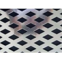 OEM Stainless Steel Perforated Metal  Diamond Hole Shape Easy To Clean Manufactures