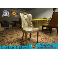 Restaurant / Living Room Simple PU Leather Casino Gaming Chairs With Solid Wood Frame Korean  Hotel Manufactures